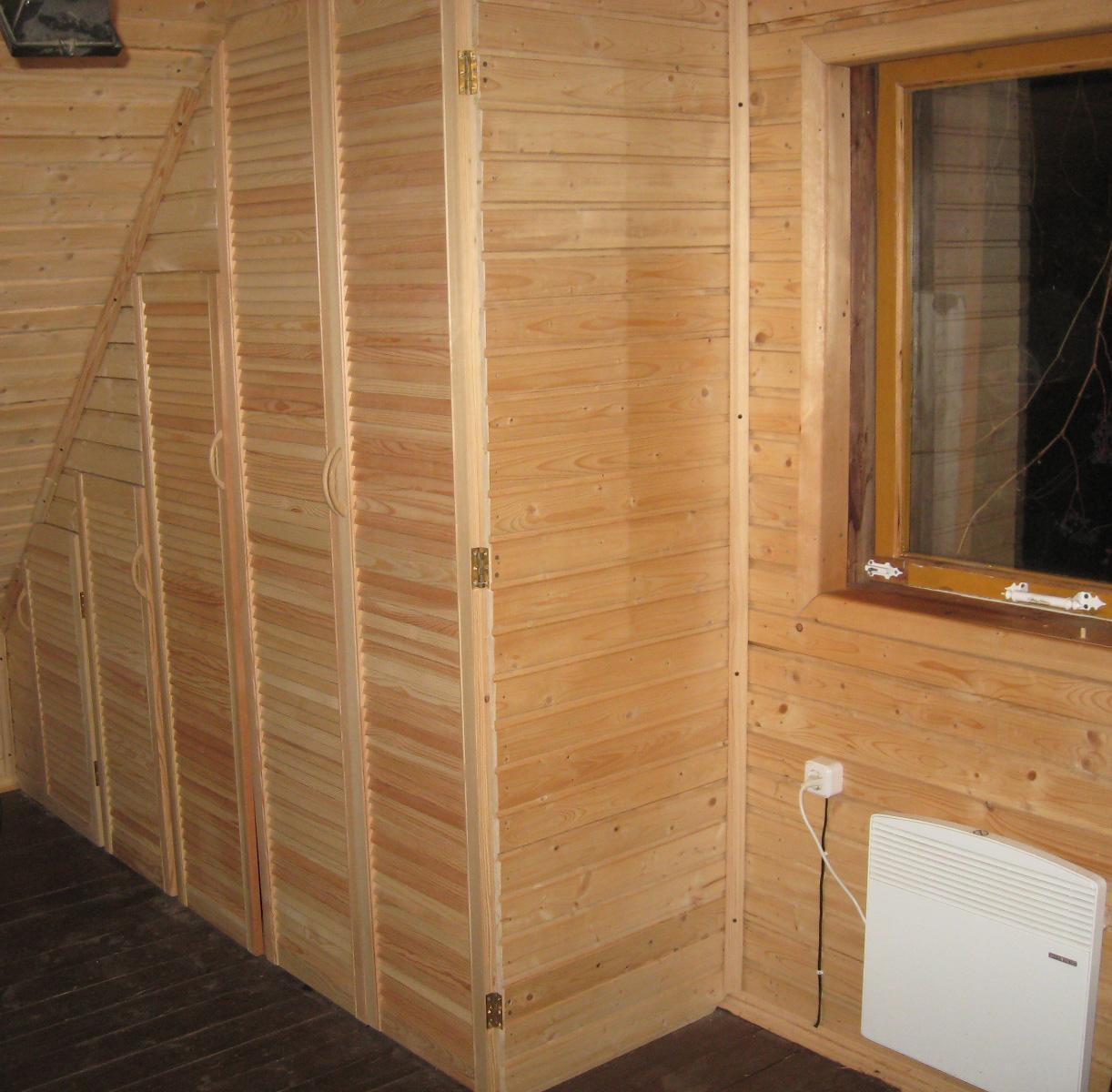 Деревянный встроенный шкаф для туалета своими руками 61
